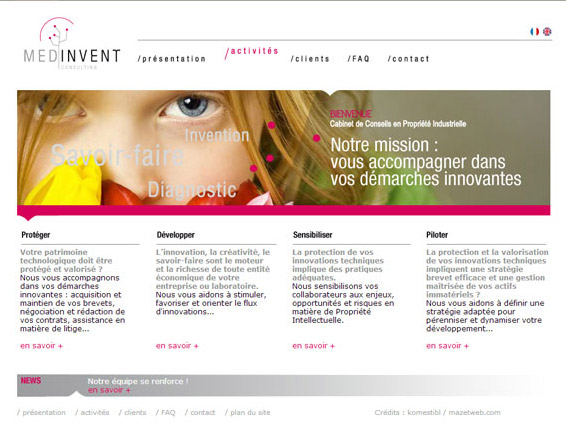 Création site Internet La Ciotat – MED'InVent Consulting