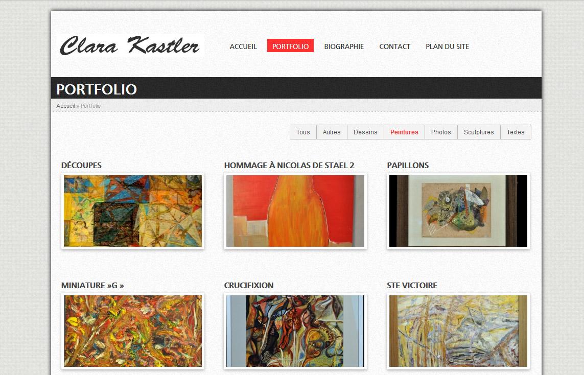 Création site portfolio peintre aix