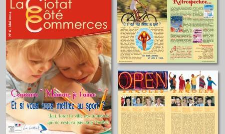 Création magazine La Ciotat – Revue des commerçants