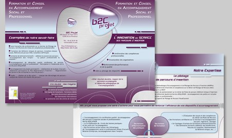 Création de la plaquette institutionnelle Aix en Provence B2C Projet