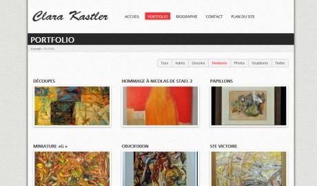 Création site portfolio artiste aix – Clara Kastler
