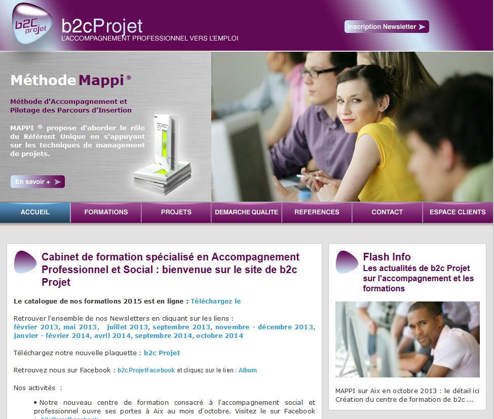 Création site Internet Aix – B2C Projet