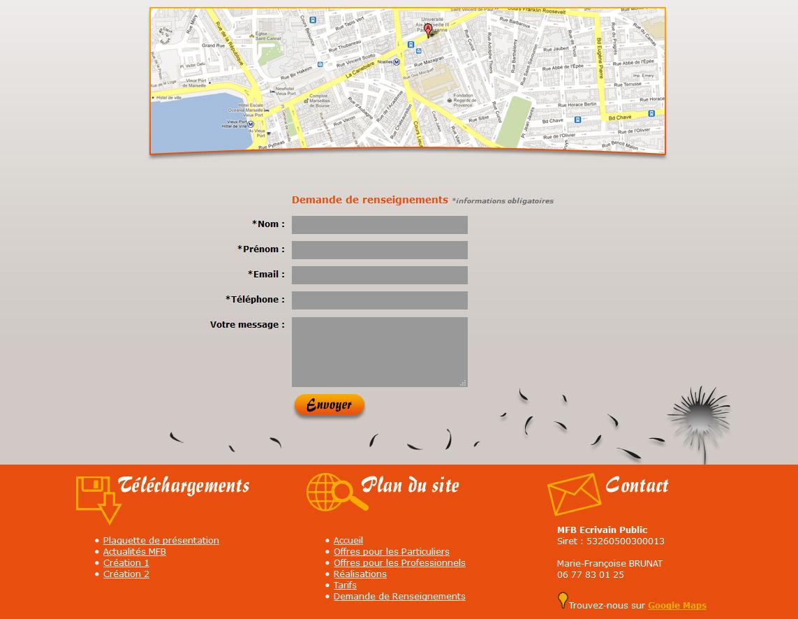 Création site web vitrine marseille